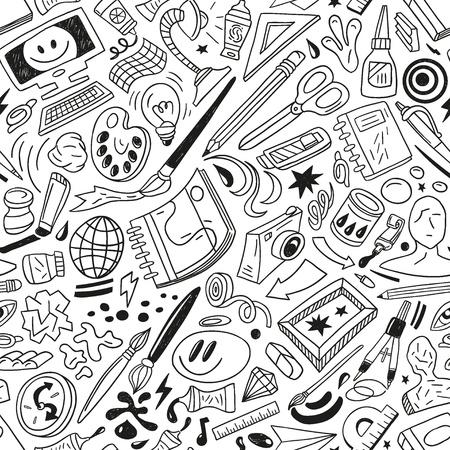 art tools - seamless vector pattern Illustration
