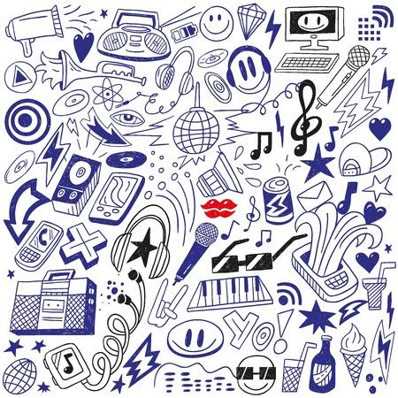 electronic music: festa della musica - doodles insieme