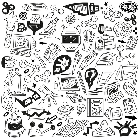 Science - doodles set Stock Vector - 18574837