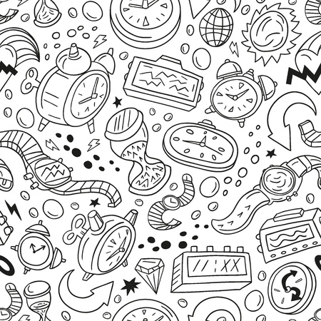 Time,watches - seamless vector pattern Vector