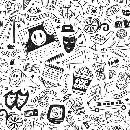 cinema - seamless pattern Illustration