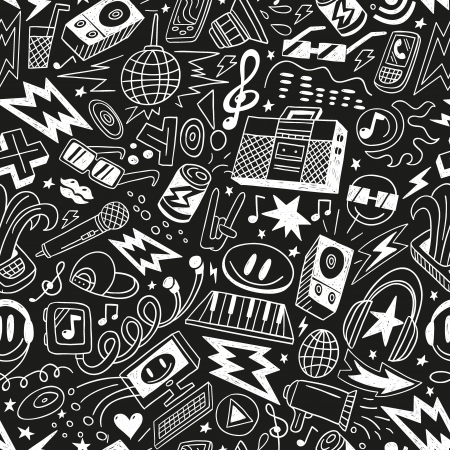 music - seamless pattern Stock Vector - 18656019