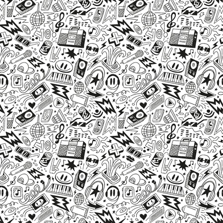 music - seamless pattern Stock Vector - 18656030