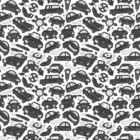 cars - seamless pattern Illustration