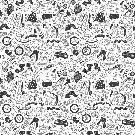 city - seamless pattern Stock Vector - 18666298