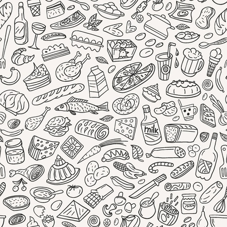 food ,cookery - seamless pattern Ilustrace