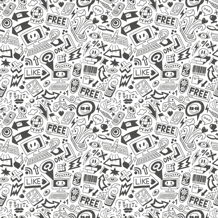 computers - seamless pattern Stock Vector - 18765341