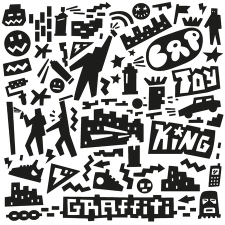 graffiti ,spray paint doodles Vector