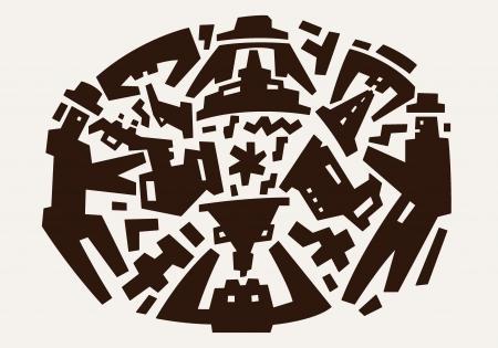 brownish: jazz band Illustration