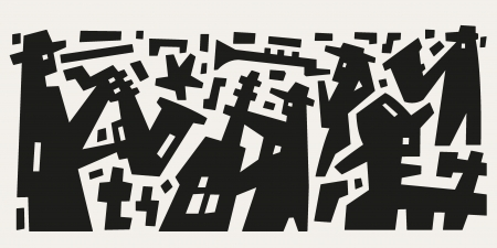 art product: jazz band - abstract illustration