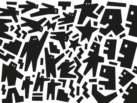 people demonstration - abstract illustration Vector