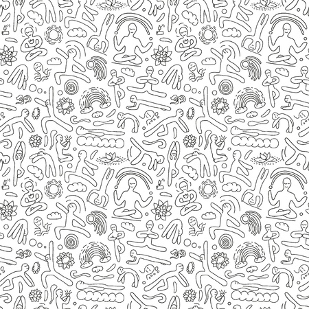 yoga - seamless pattern Illustration