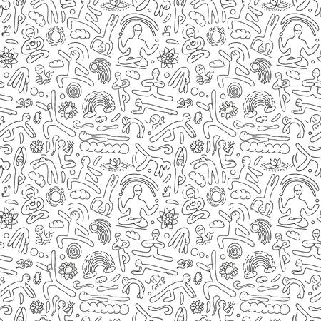 yoga - seamless pattern Illustration