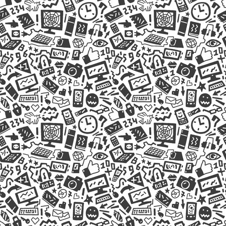 technology seamless pattern Vector