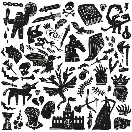 poison arrow: fairy tale - doodles pattern
