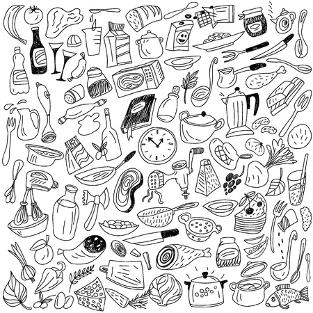 koken doodles Stock Illustratie