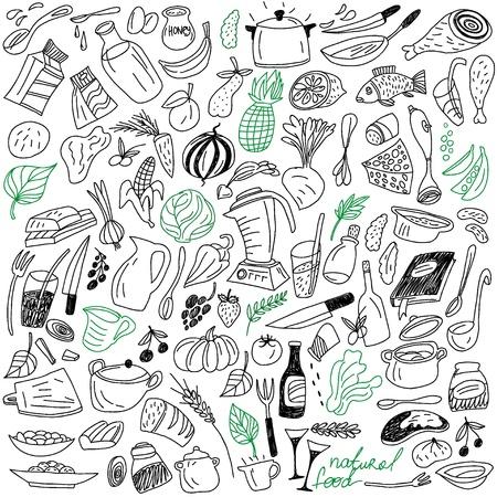 raw potato: natural food doodles