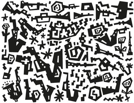 jazz doodles Stock Vector - 19804880
