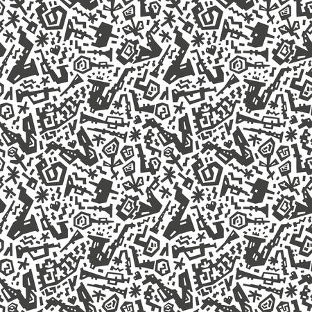 jazz seamless pattern Stock Vector - 19804875