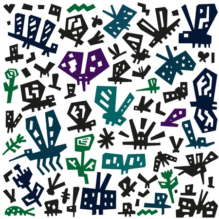 insects doodles Stock Vector - 20339171