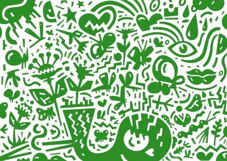spring,summer - abstract illustration Stock Vector - 20339173
