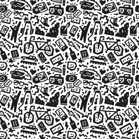 hipsters things - seamless vector background Vector