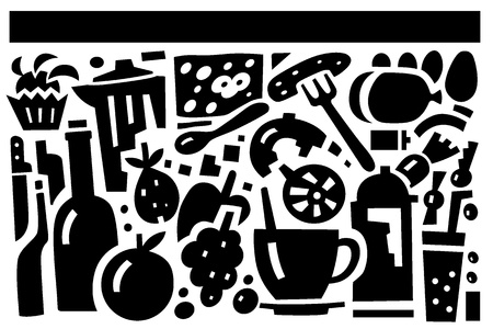 food and drink - vector illustration Vector