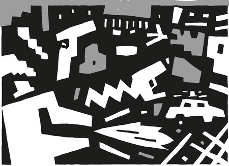 prisoner of the money: criminal - abstract vector background