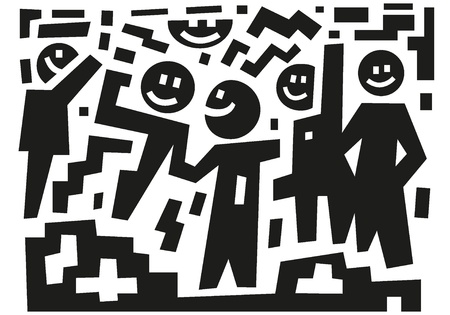 human figures: Friends - abstract illustration Illustration