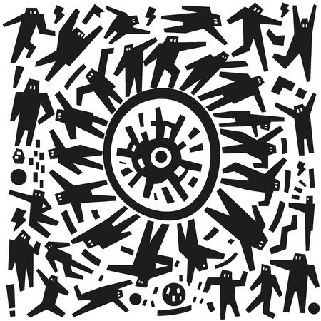 dancing people - doodles Vector