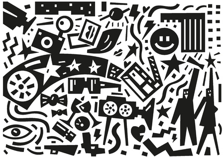 cinema stars - illustration Vector