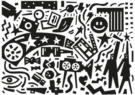cinematographer: cinema stars - illustration