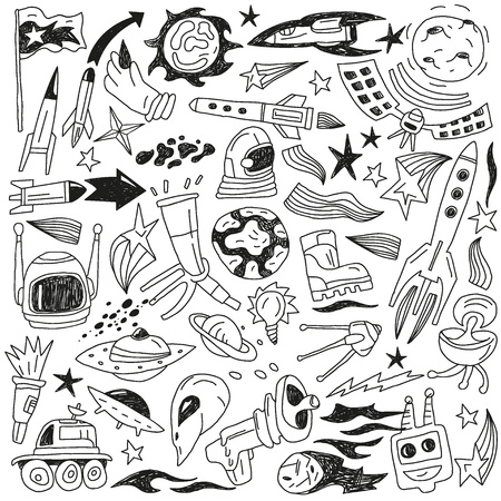space - doodles collection Stock Photo - 20640467