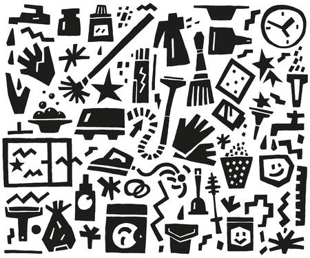 lejia: limpieza de herramientas doodles