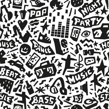 Music party - seamless background Vector