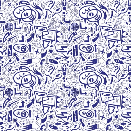 speech bubbles and arrows - seamless pattern Vector