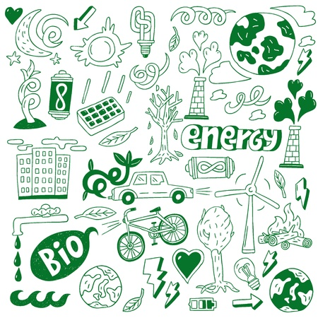 Ecology - doodles collection Stock Vector - 20674439