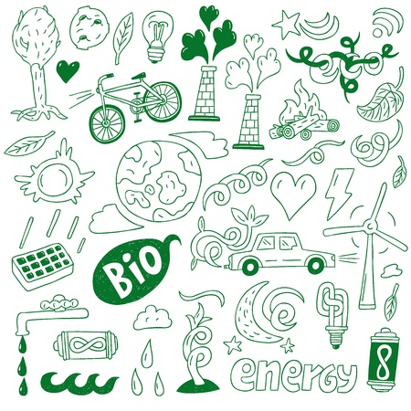 Ecology - doodles collection Stock Vector - 20674440