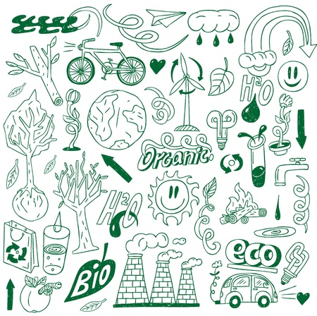 Ecology - doodles collection Stock Vector - 20674441