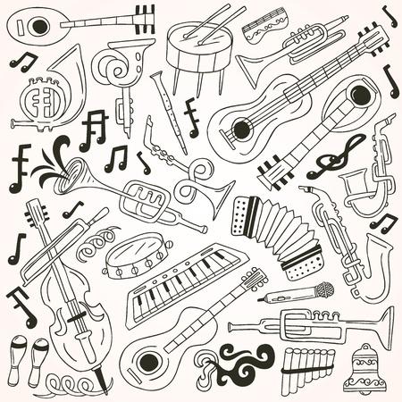 wind instrument: jazz - doodles