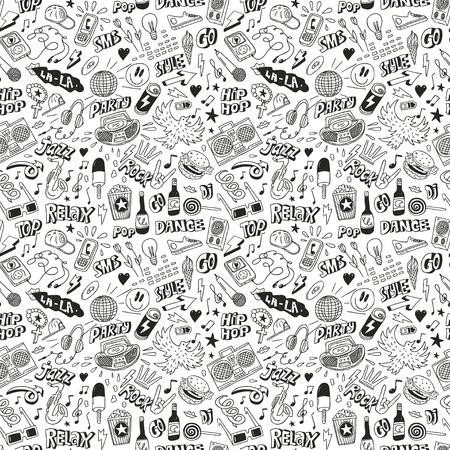 Music - seamless background Illustration