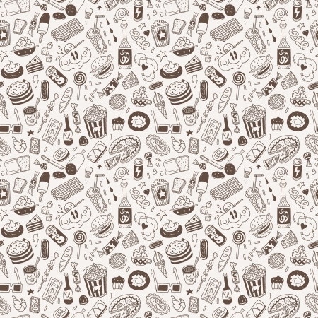 fast food - seamless background Stock Vector - 20674622