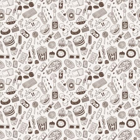 fast food - naadloze achtergrond