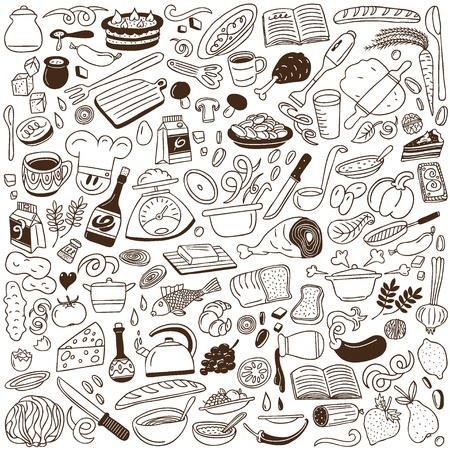 Cookery doodles Ilustrace
