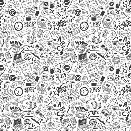 web doodles seamless background Stock Photo