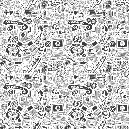 web doodles seamless background Stock Photo