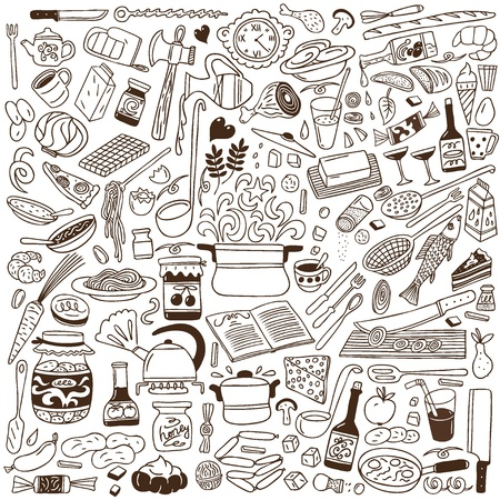 Cookery doodles Stock Photo