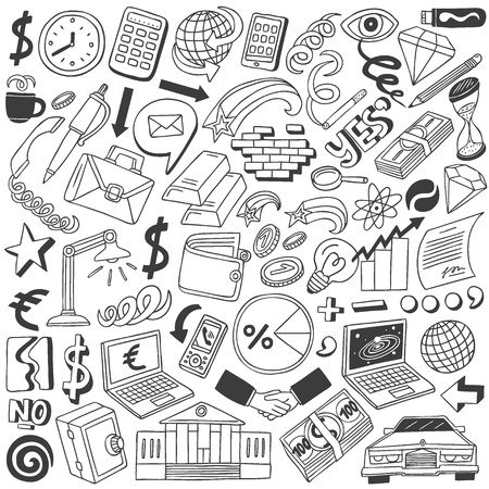 Business doodles collection Stock Photo - 20674576