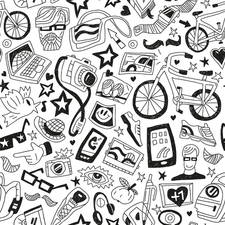hipsters - seamless backgrounds