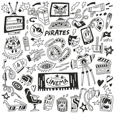 cinematographer: cinema doodles Illustration